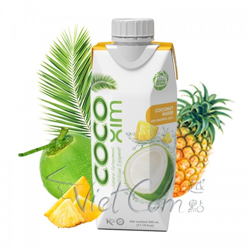 CocoXim - Coconut Water with Pineapple Juice【Full Case 330ml x 12】